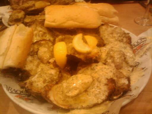 Drago's Chargrilled Oysters on the half shell w/french bread