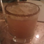 A drink at Macondo, smoked salt rim
